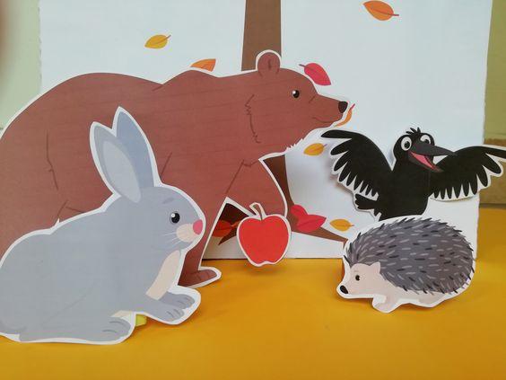 Szutyejev Az alma mese nyomtatható bábok
