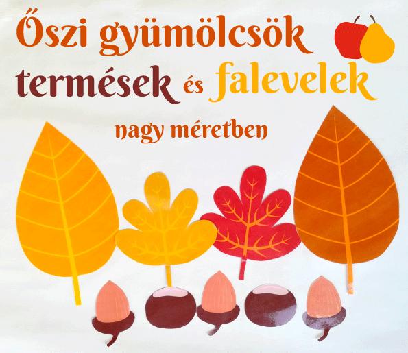 Letölthető őszi gyümölcsök, falevelek, termések
