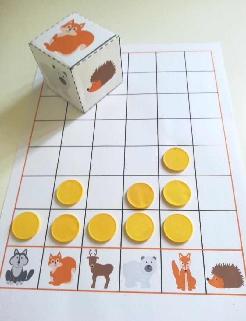 erdei állatok nyomtatható játékok