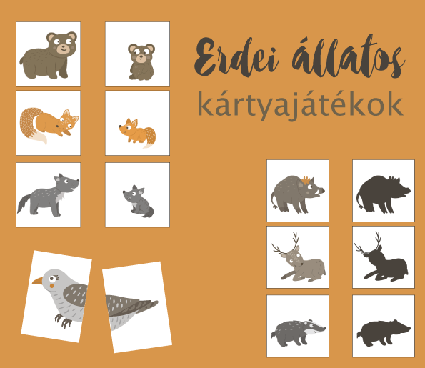 Erdei állatos kártyajátékok