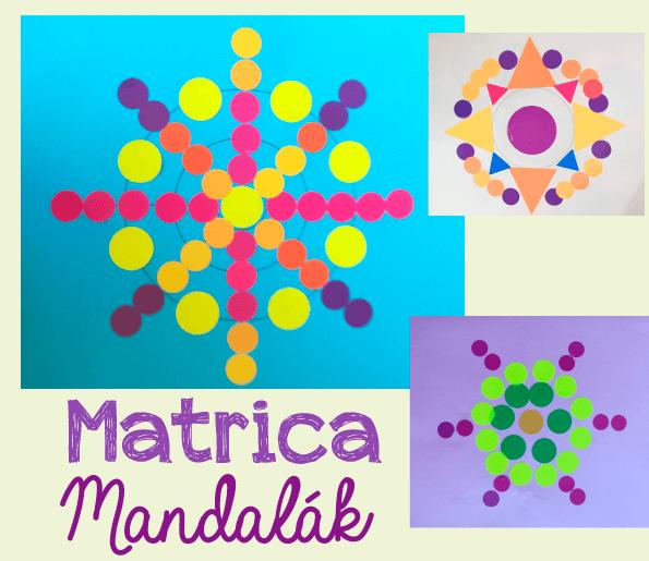 Mandala matricákból – kreatív játéktipp