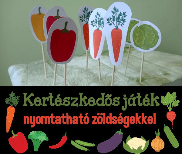 Kertészkedős játék nyomtatható zöldségekkel