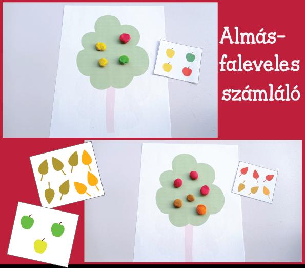 Faleveles-, almás számláló játék
